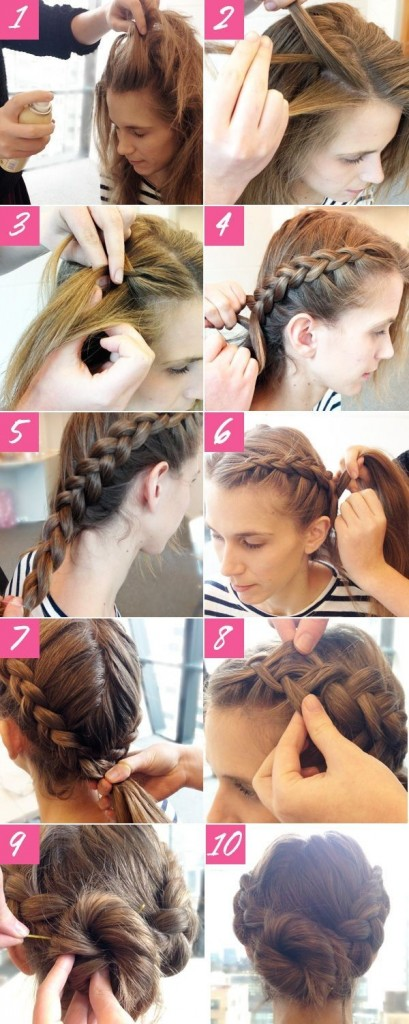 Braid-Bun-Hairstyle-Prom-Hairstyles-Tutorials