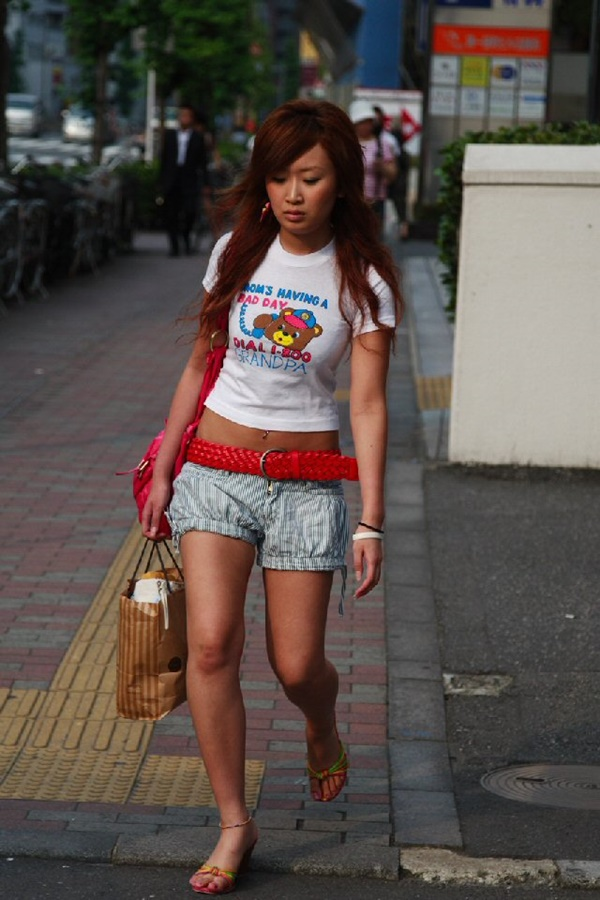 Japanese teen wearing denim