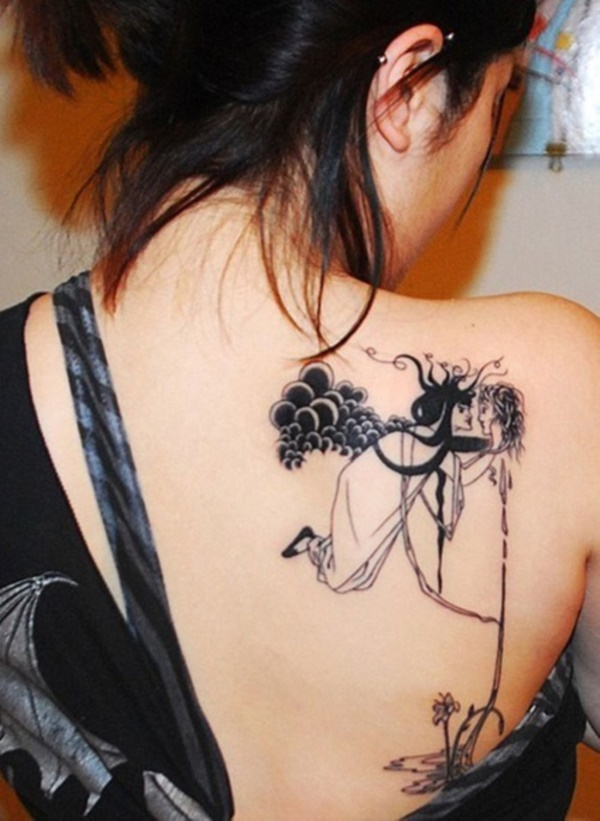 ladies back tattoos (13)