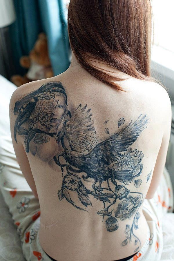 ladies back tattoos (16)