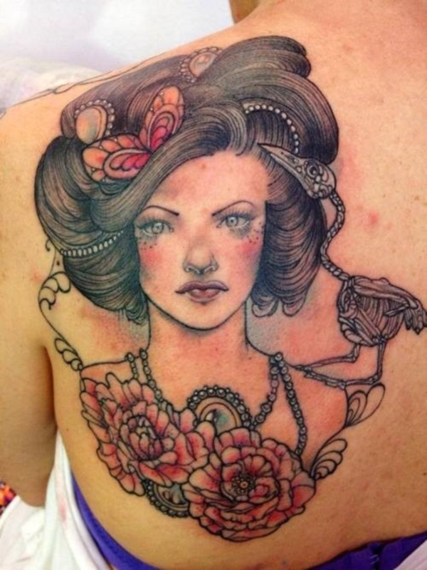 ladies back tattoos (19)
