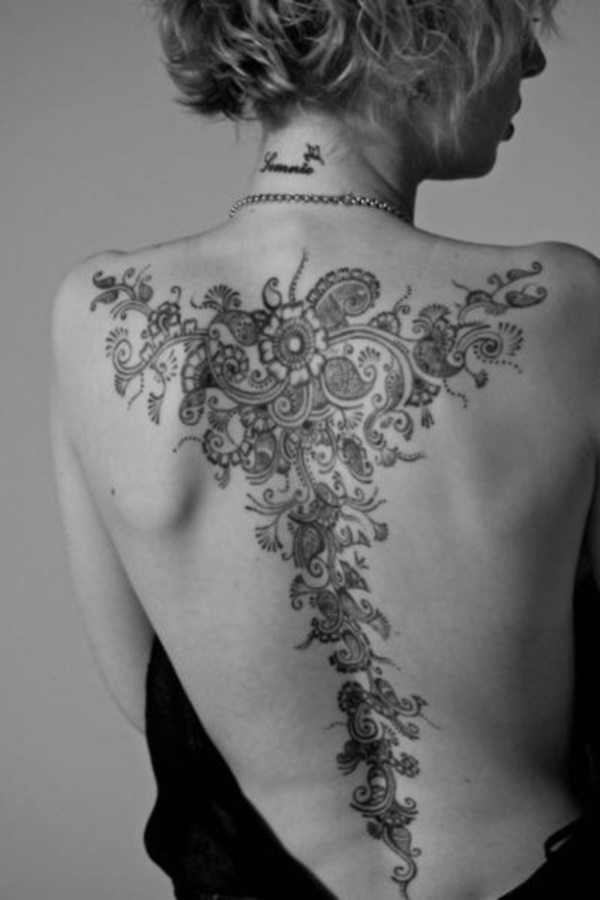 ladies back tattoos (2)