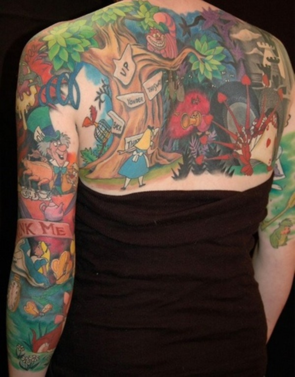 ladies back tattoos (25)