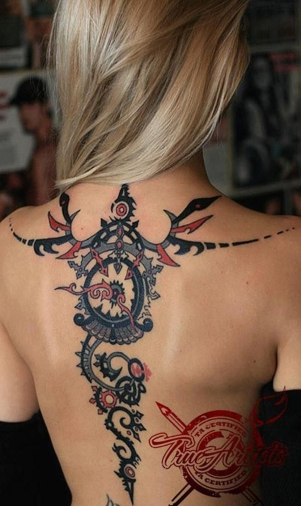 ladies back tattoos (28)