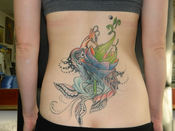 ladies back tattoos (35)