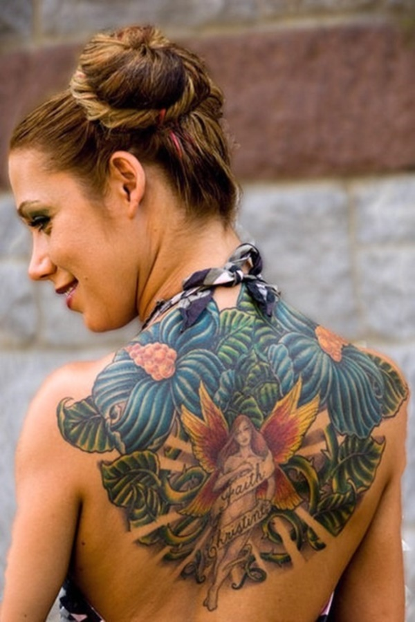 ladies back tattoos (4)