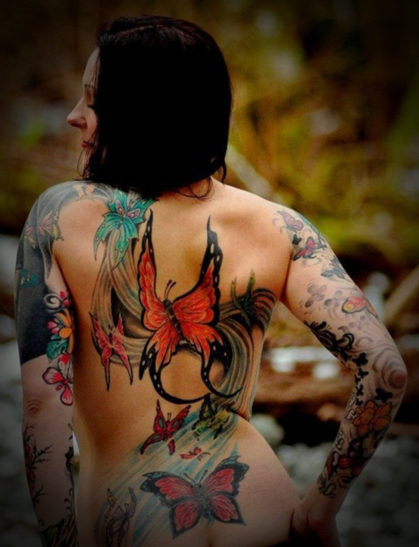 ladies back tattoos (43)