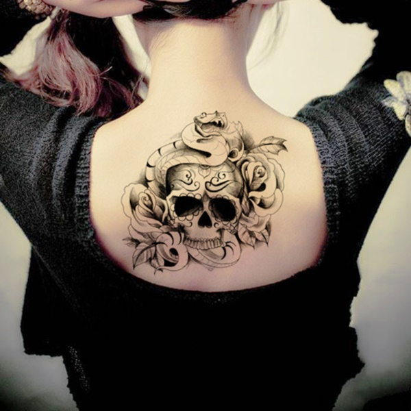 ladies back tattoos (44)