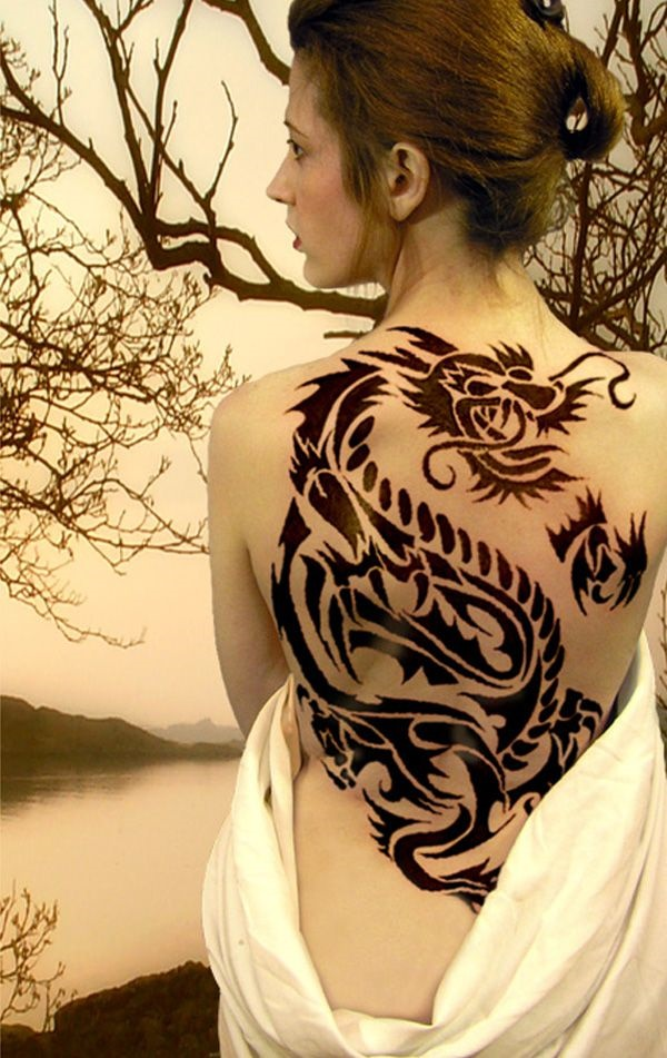 ladies back tattoos (60)