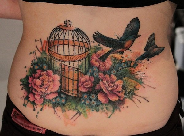 ladies back tattoos (68)