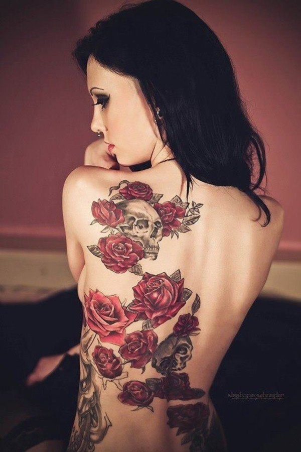 ladies back tattoos (72)