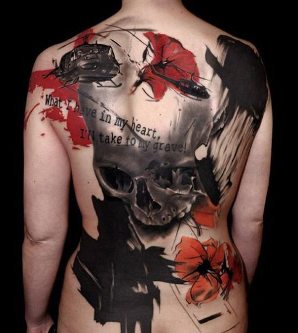 ladies back tattoos (73)