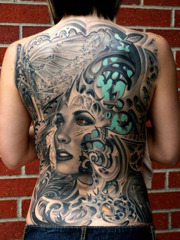ladies back tattoos (74)