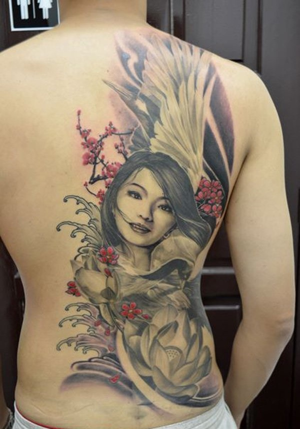 ladies back tattoos (75)