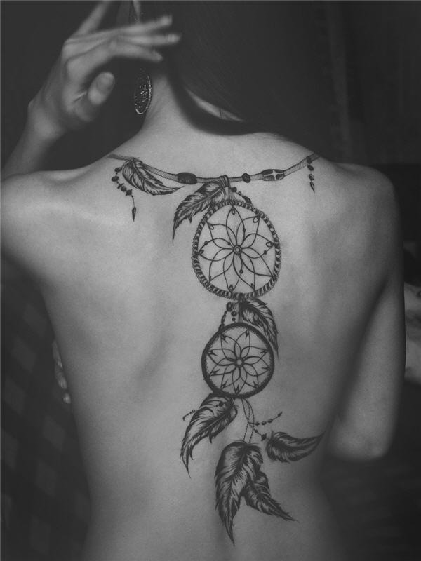 ladies back tattoos (80)