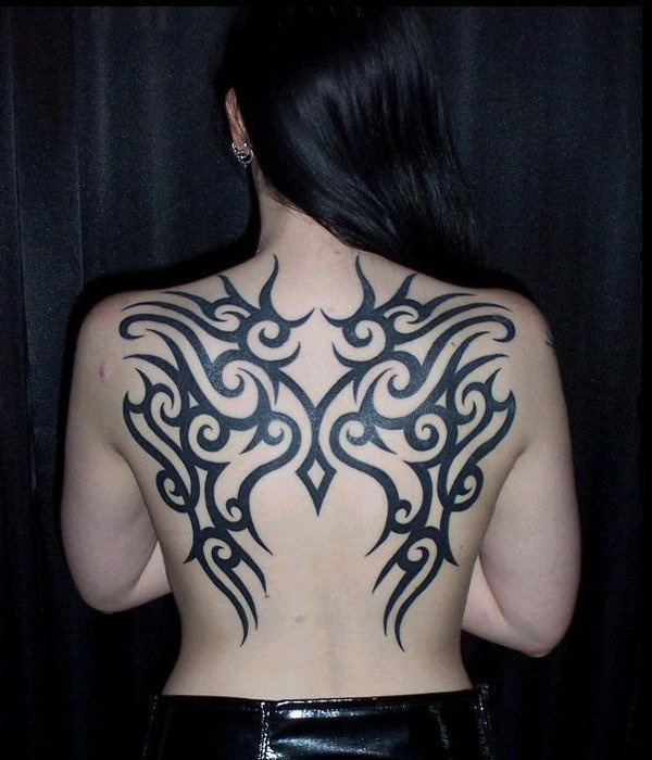 ladies back tattoos (82)