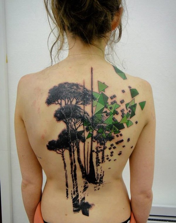 ladies back tattoos (84)