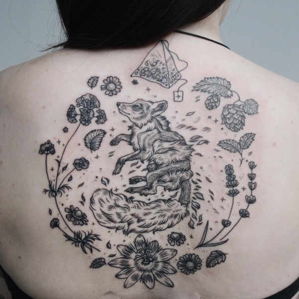 ladies back tattoos (9)