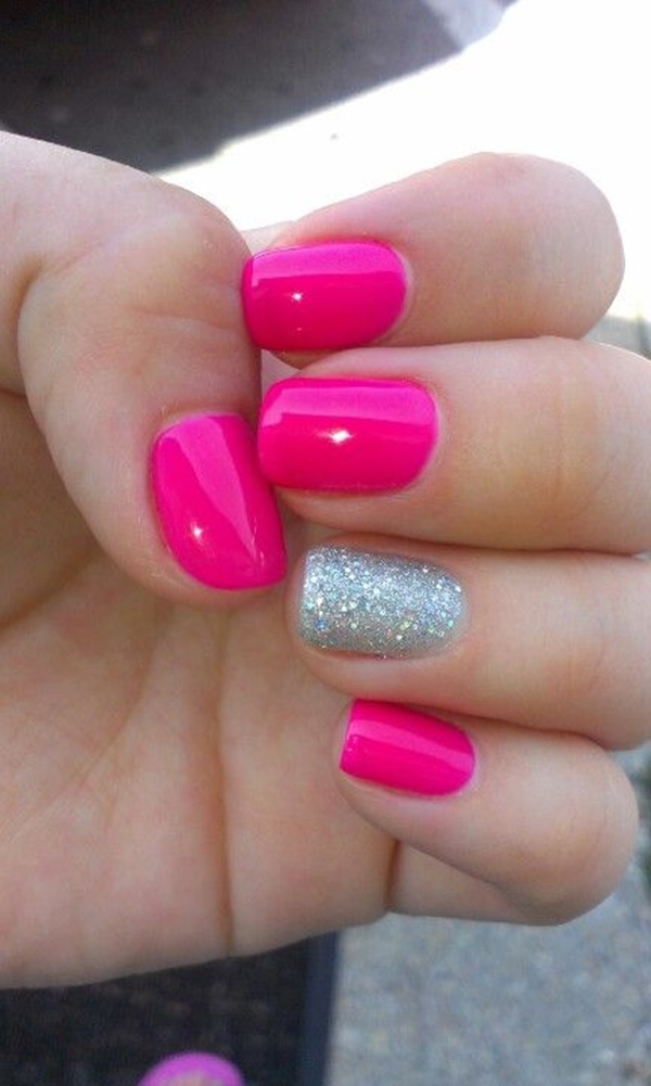 85 hot pink nail art designs for girls pink nail art designs 14 prinsesfo Gallery