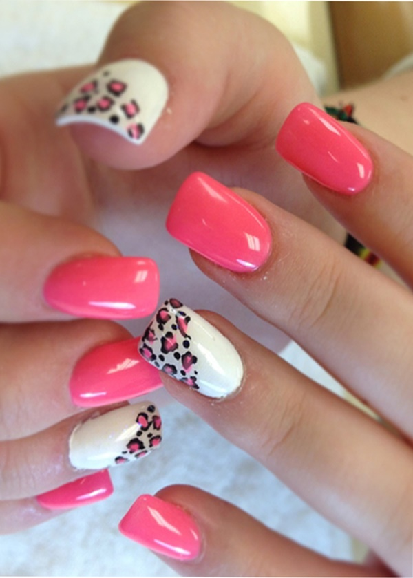 Enough Said Pink Nail Art Designs 25