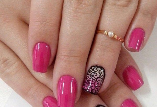 ... pink nail art designs (4) - 85 Hot Pink Nail Art Designs For Girls
