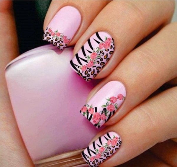 Talk About Detail Pink Nail Art Designs 72